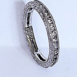 Platinum 0.72ct Genuine Diamonds Eternity Wedding